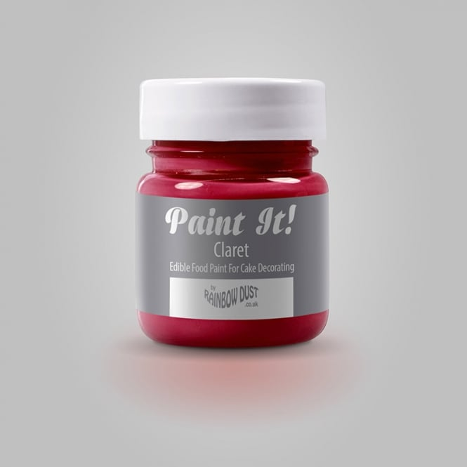 Rainbow Dust Claret - Paint-It 25ml Edible Paint