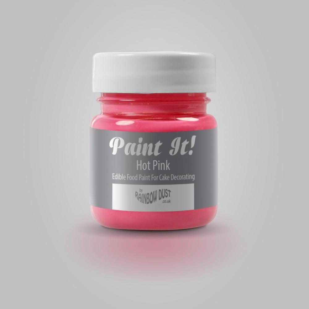 Rainbow Dust Hot Pink - Paint It 25ml Edible Paint - Decorating Pens ...