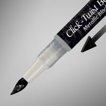 Metallic Black - Click Twist Edible Pen