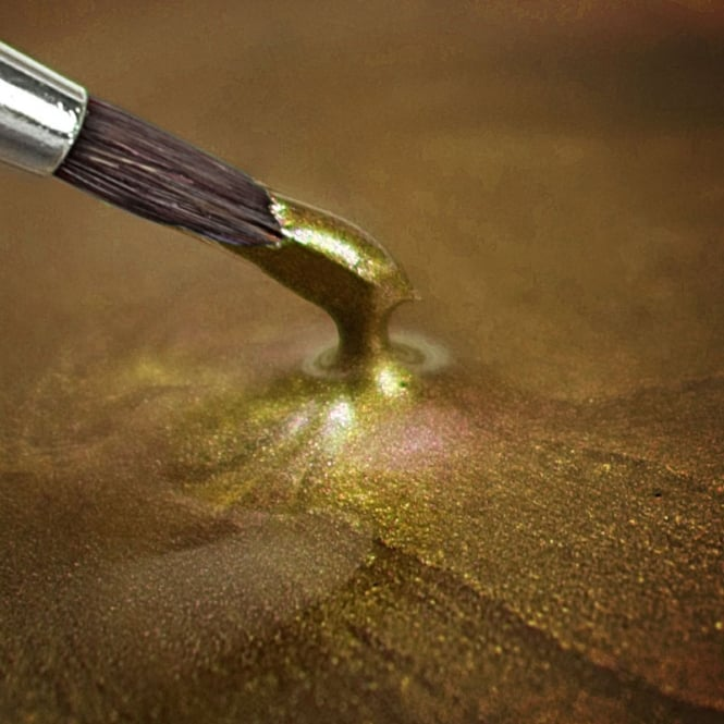 Rainbow Dust Metallic Light Gold - Food Paint 25ml