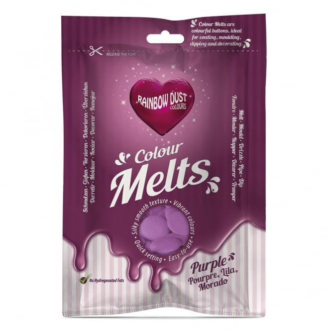 Rainbow Dust Purple - Chocolate Colour Melts 250g
