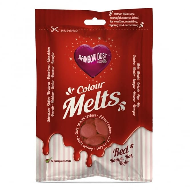 Rainbow Dust Red - Chocolate Colour Melts 250g