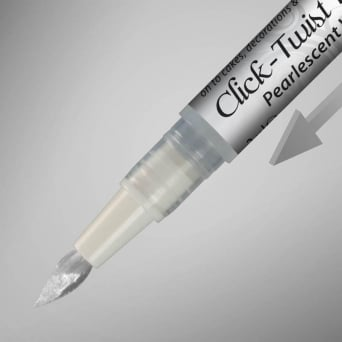 Pearlescent White Click Twist Edible Paint Pen By Rainbow Dust