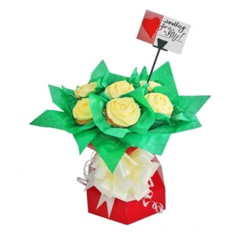 Red Cupcake Bouquet Box Kit