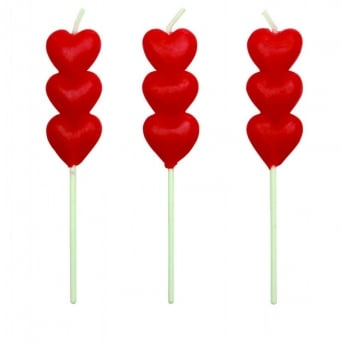 Red Heart Candles - Pack of 8 By PME