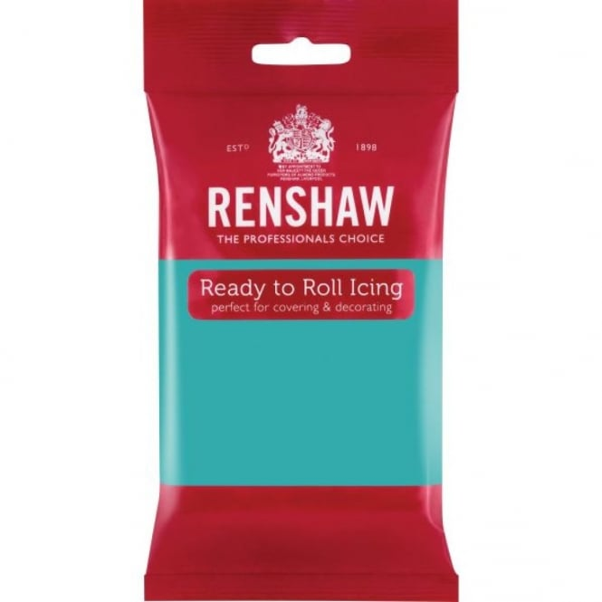 Renshaw Jade Green - Regal Ice Sugarpaste Ready To Roll Fondant 250g