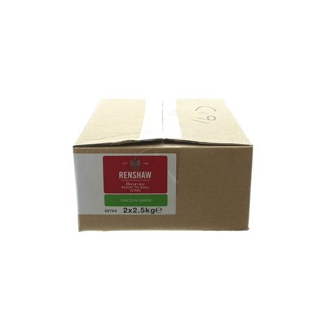Renshaw Lincoln Green - Regal Ice Sugarpaste Ready To Roll Fondant 5kg