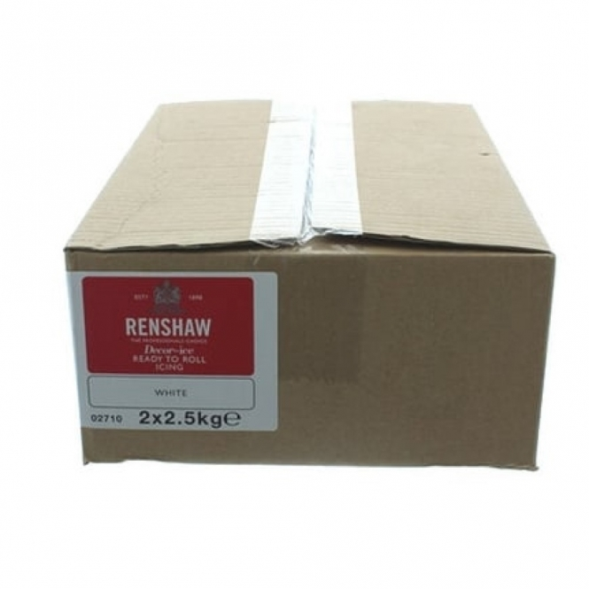 Renshaw White - Regal Ice Sugarpaste Ready To Roll Fondant 5kg