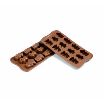 Robots Chocolate Mould - Robochoc Silicone Mould By SilikoMart Easy Choc