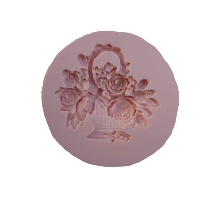 Sunflower Sugar Art Rose Basket Mould By