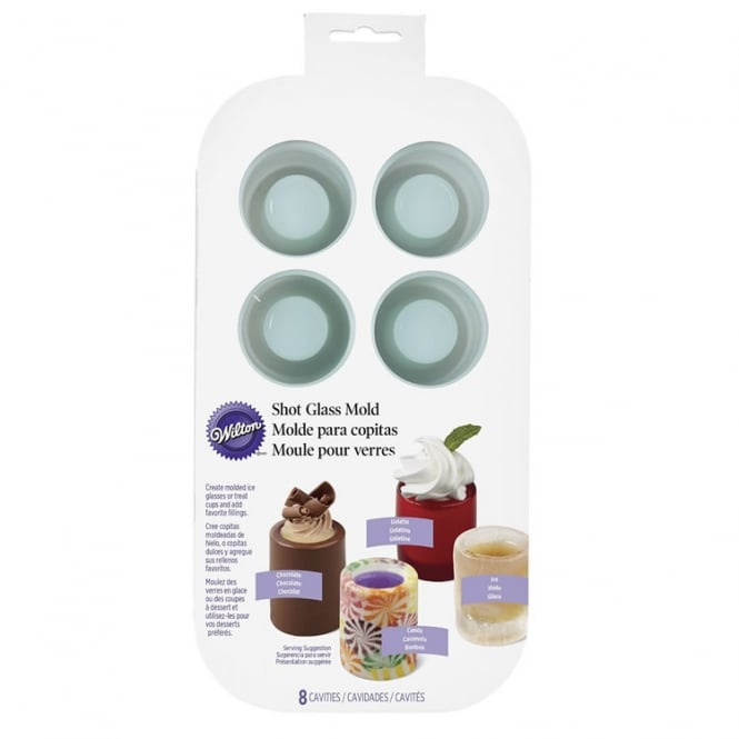 Round Edible Shot Glass Silicone Mould by Wilton