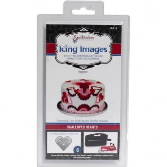 Scalloped Heart Die Cutter - Icing Images