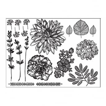 Hand Drawn Florals Silho Mould