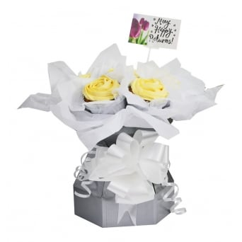 Silver Cupcake Bouquet Box Kit