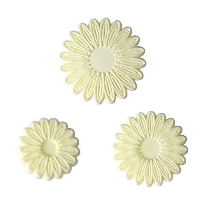 JEM Small Multi Petal Daisy Gerbera Set Of 3 By Cutters