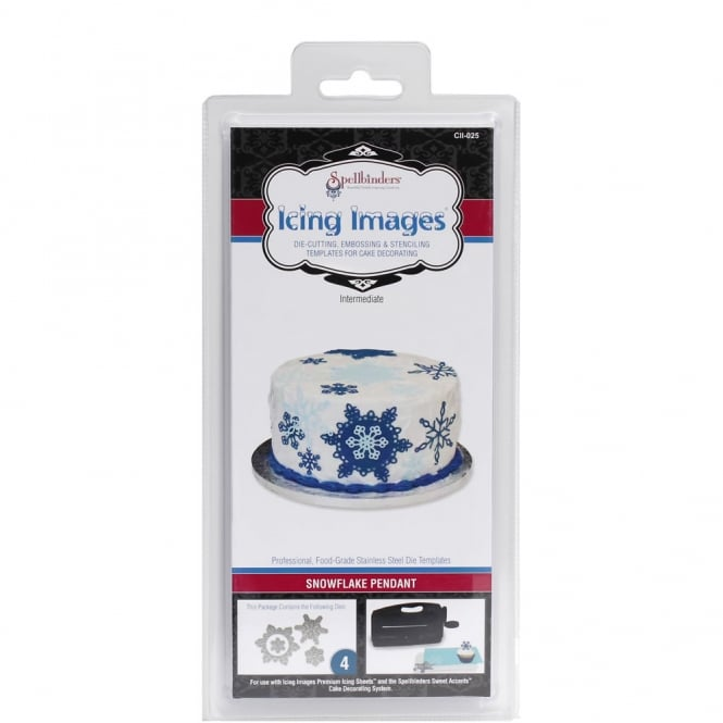 The Cake Decorating Co. Snowflake Pendant Die Cutter - Icing Images