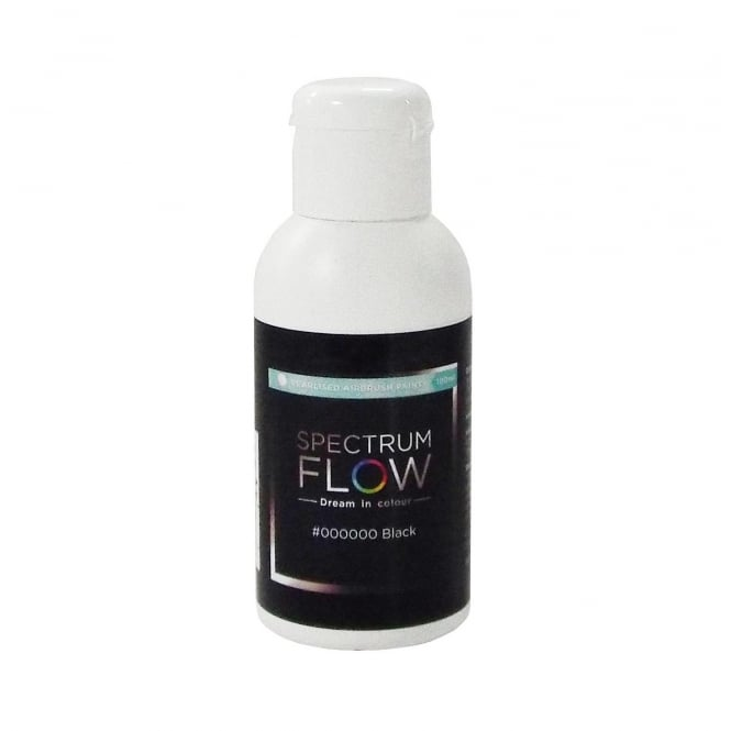 Spectrum Flow Black - Pearl Airbrush Paint For Chocolate And Sugarpaste 100ml