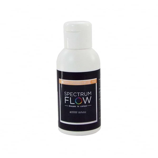 Spectrum Flow White - Matt Airbrush Paint For Chocolate And Sugarpaste 75ml