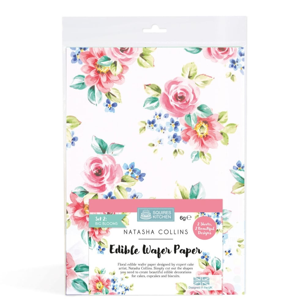 Home Cake Decorating Supply Co: Big Blooms Edible Wafer Paper Set Of 2