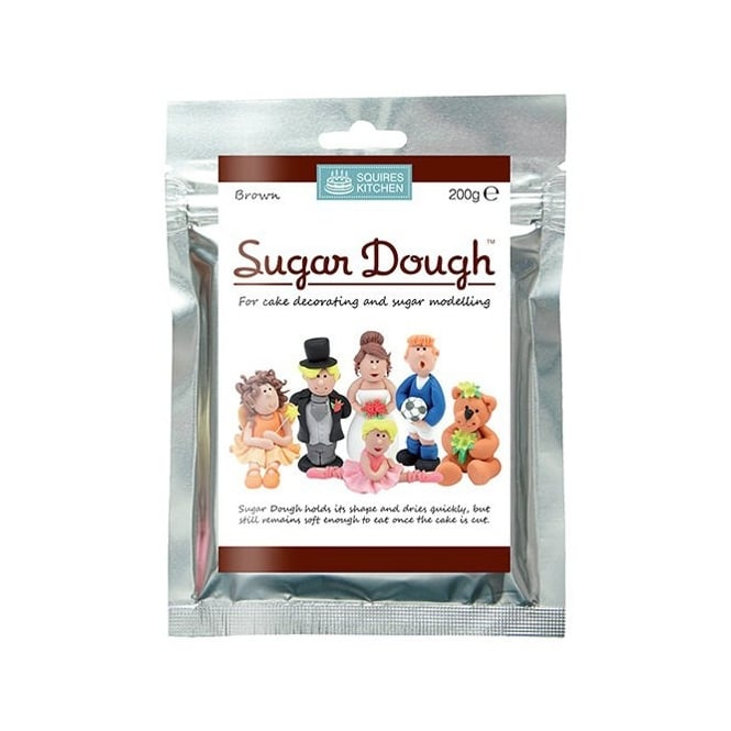 Squires Kitchen  Brown - Sugar Dough Modelling Paste 200