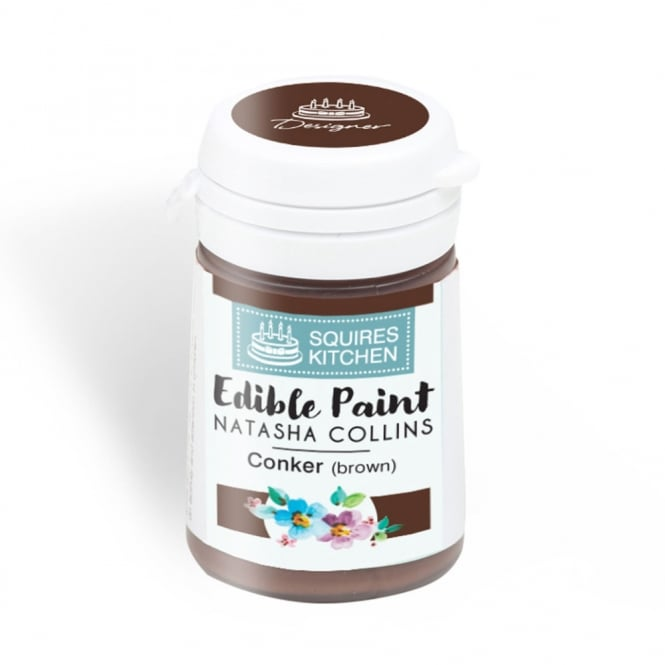 Squires Kitchen  Conker Brown - Edible Paint Natasha Collins