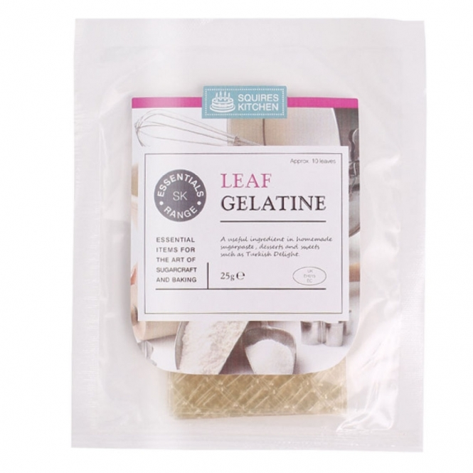 Squires Kitchen Essential Leaf Gelatine 25g