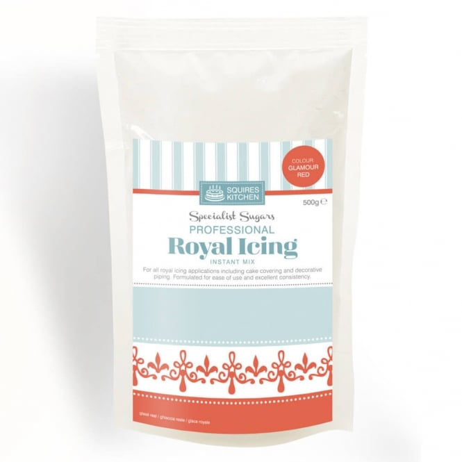 Squires Kitchen  Glamour Red - Royal Icing Mix 500g