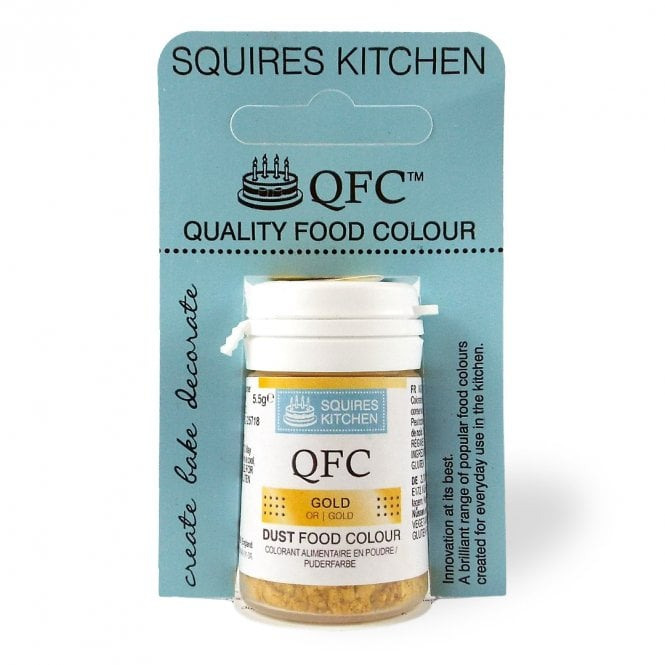 Squires Kitchen Gold - Lustre Food Dust 5.5g