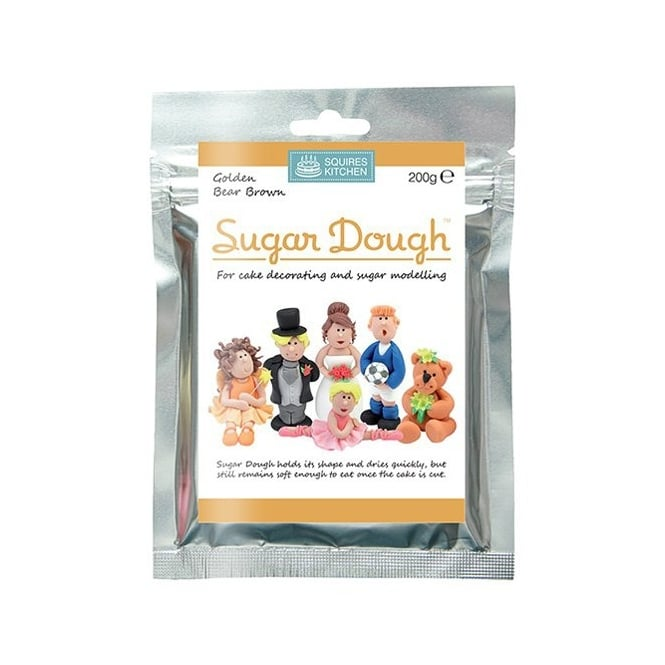 Squires Kitchen  Golden Bear Brown – Sugar Dough Modelling Paste 200g