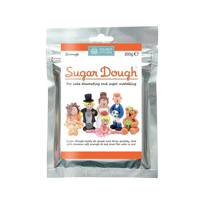 Squires Kitchen Orange - Sugar Dough Modelling Paste 200g