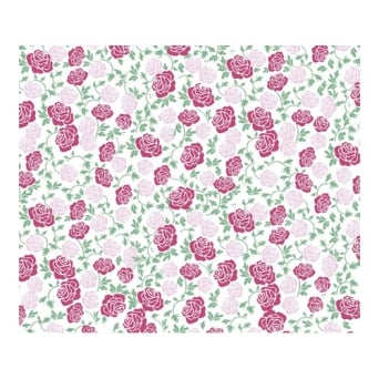 Pink Roses - Chocolate Transfer Sheet x2