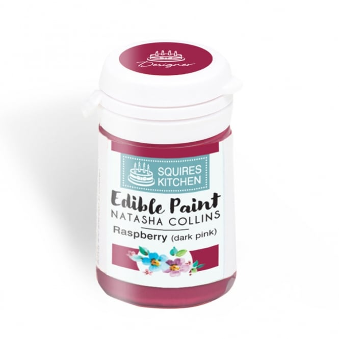 Squires Kitchen Raspberry Dark Pink - Edible Paint Natasha Collins