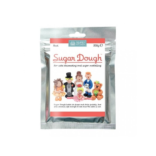 Squires Kitchen Red -Sugar Dough Modelling Paste 200g