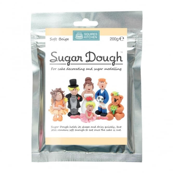 Squires Kitchen Soft Beige – Sugar Dough Modelling Paste 200g