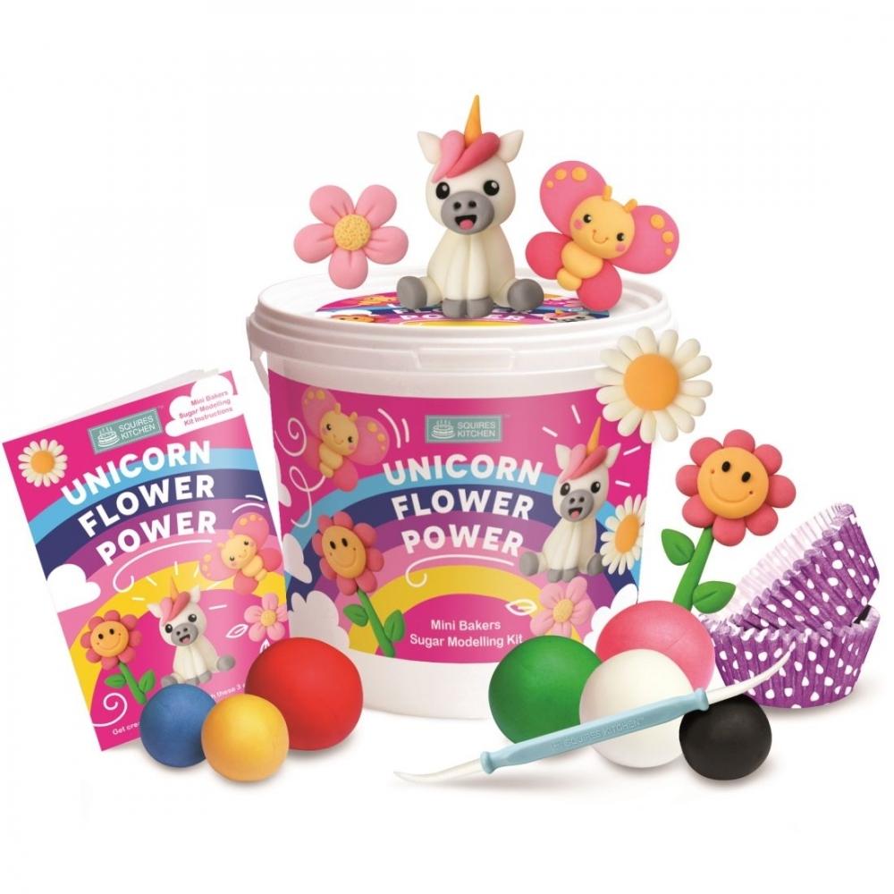 Unicorn Flower Power Modelling Kit Squires Kitchen Mini Baker Kit