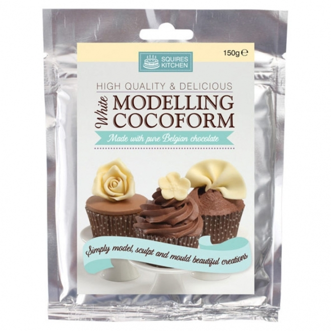 Squires Kitchen  White - Cocoform Modelling Chocolate 150g