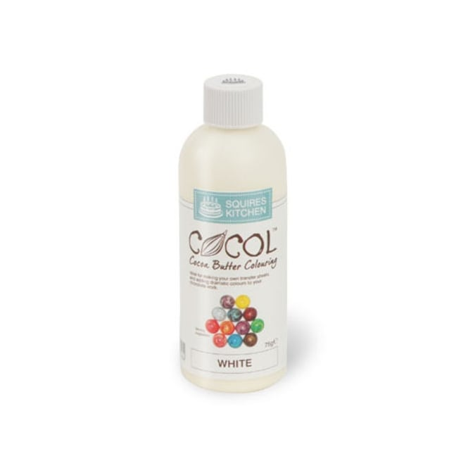 Squires Kitchen  White - COCOL Cocoa Butter Colouring 75g