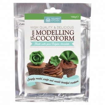 Cocoform Green Modelling Chocolate 150g By Squires Kitchen