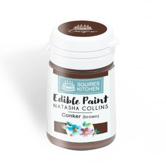 Conker Brown Edible Paint Natasha Collins - Squires Kitchen