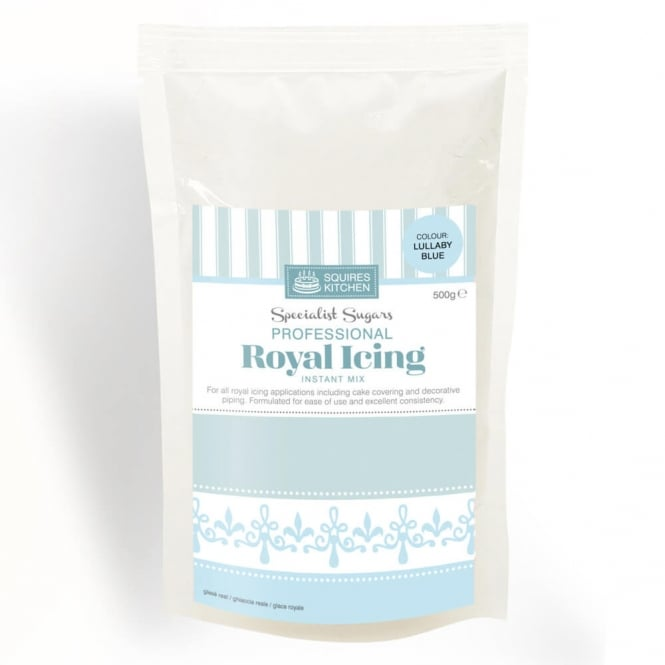 Squires Kitchen  Lullaby Blue Royal Icing Mix 500g By Squires Kitchen