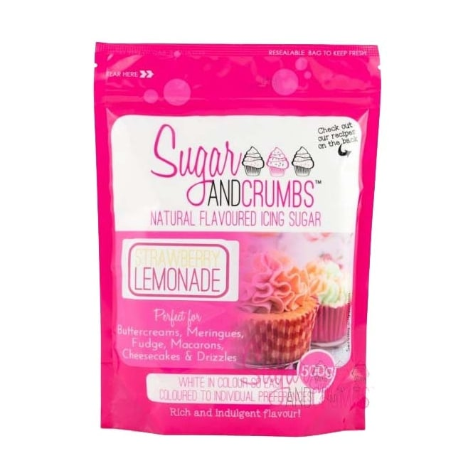 Sugar And Crumbs Strawberry Lemonade - Natural Icing Sugar 500g