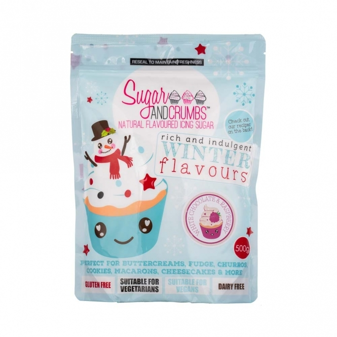 Sugar And Crumbs White Chocolate And Raspberry - Natural Icing Sugar 500g