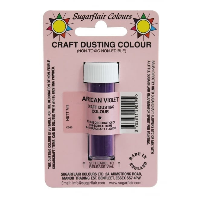 Sugarflair African Violet - Non Toxic Craft Dusting Colour 7ml
