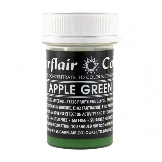 Sugarflair Apple Green - Pastel Paste Concentrate Colouring 25g