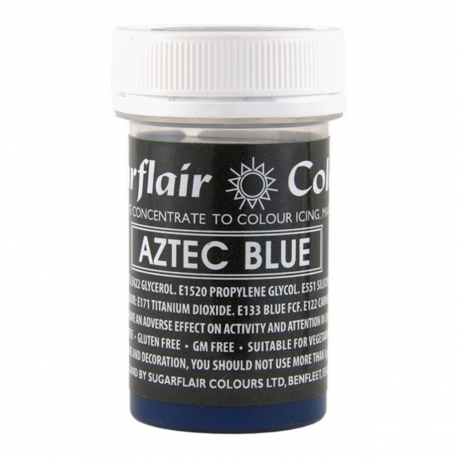 Sugarflair Aztec Blue - Pastel Paste Concentrate Colouring 25g