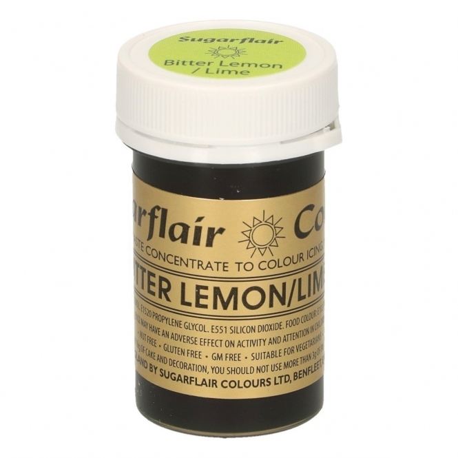 Sugarflair Bitter Lemon Lime - Spectral Paste Concentrate Colouring 25g