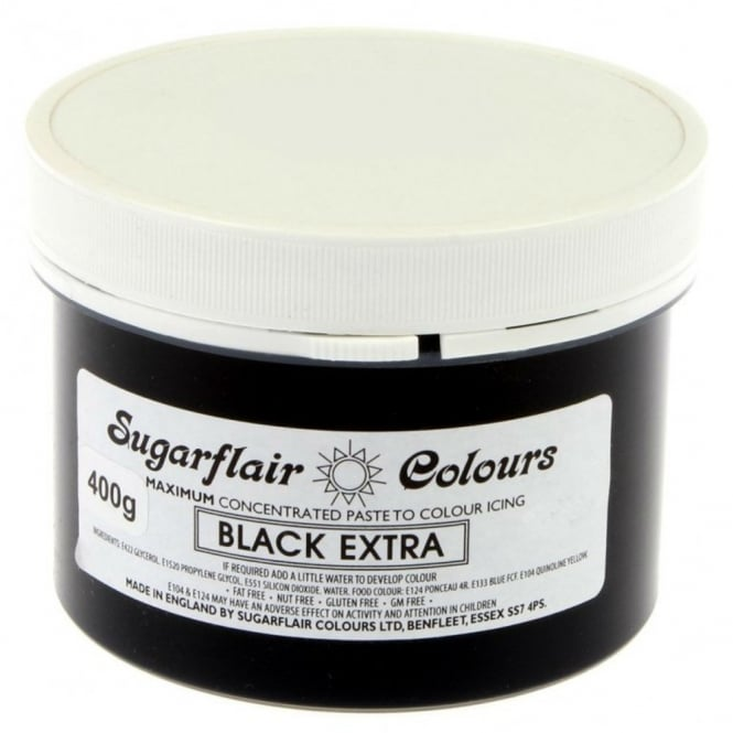 Sugarflair Black - Extra Max Concentrate Colouring 400g
