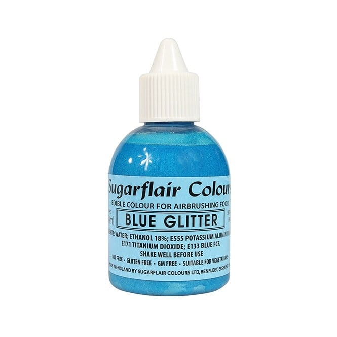 Sugarflair Blue Glitter - Airbrush Colour 60ml