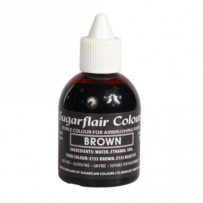 Sugarflair Brown - Airbrush Colour 60ml