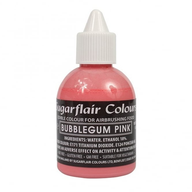 Sugarflair Bubble Gum Pink - Airbrush Colour 60ml